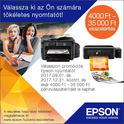 Vásároljon most Epson külsőtartályos nyomtatót és pénz áll a házhoz!