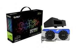 VGA Palit PCIe NVIDIA GTX 1070 8GB GDDR5 - GeForce GTX 1070 GameRock + G-Panel